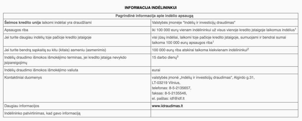 INFORMACIJA INDÉLININKUI  valstybinis indėlių ir investicijų draudimo įstatymas - sąlygos