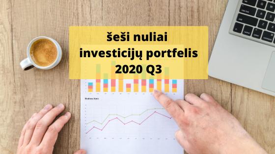 šeši nuliai investicijų portfelis 2020